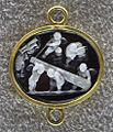 065 artista rinascimentale, amorini con la clava, calcedonio, xvi sec..JPG