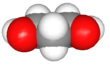 Spacefill model of 1,3-propanediol