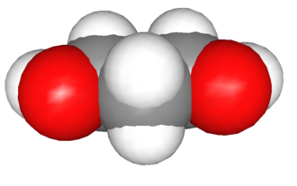 1,3-Propanediol - Image: 1,3 Propanediol Space Filling Model