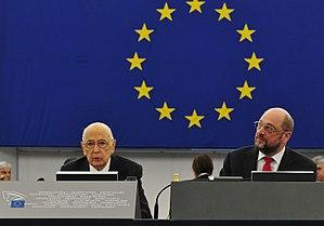 Martin Schulz - Martin Schulz with Italian President Giorgio Napolitano in 2014.