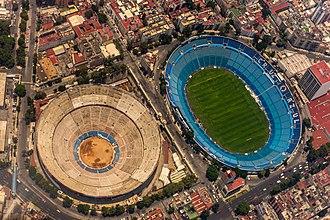 Ciudad de los Deportes - Plaza México (left) and Estadio Azul (right)