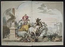Rambergs 1789 datierter Entwurf des Vorhangs für das Schlosstheater in Hannover (Quelle: Wikimedia)