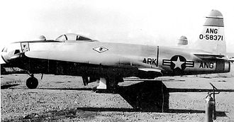 184th Attack Squadron - Lockheed RF-80A-5-LO Shooting Star 45-8371, about 1955