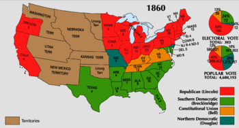 In 1860, northern and western electoral votes ...