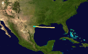 1866 Atlantic hurricane season - Image: 1866 Atlantic hurricane 1 track