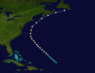 1870 Atlantic hurricane season - Image: 1870 Atlantic hurricane 2 track