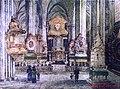 1873-100-001 Heiligenkreuz - Stiftskirche vor der Umgestaltung 1873 - Aquarell Anton Paur 1918.jpg