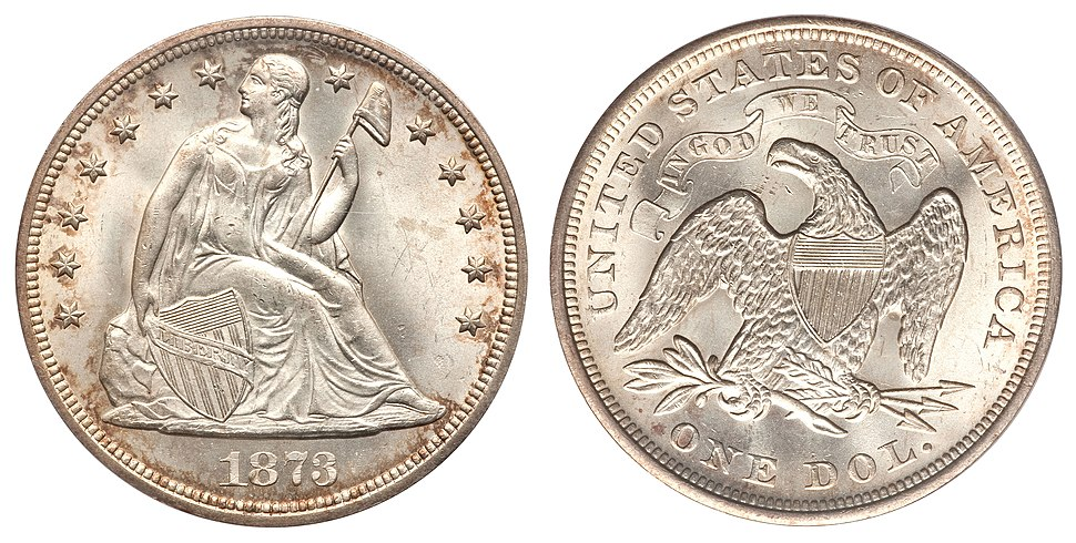 1873 $1 Seated Liberty