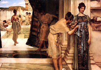Frigidarium - The Frigidarium (1890) by Lawrence Alma-Tadema.