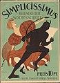 1896 Thomas Theodor Heine Plakat SimplicissimusTeufel tanzt mit hoher Kunst.jpg