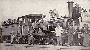 Zimbabwe - The opening of the railway to Umtali in 1899.