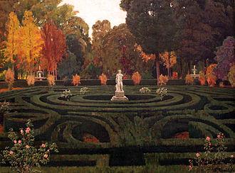 Santiago Rusiñol - Image: 1907 Rusinol Garten von Aranjuez anagoria