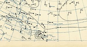1930 Atlantic hurricane season - Image: 1930 Dominican Republic Hurricane Weather Analysis