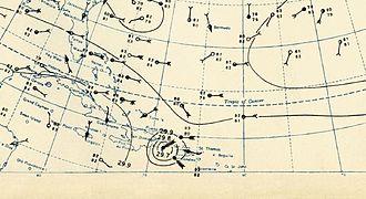 1930 Atlantic hurricane season - Image: 1930 Dominican Republic Hurricane Weather Analysis
