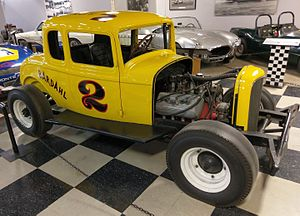 A. J. Foyt - 1932 Ford Hardtop raced by A.J Foyt in 1955, California Automobile Museum