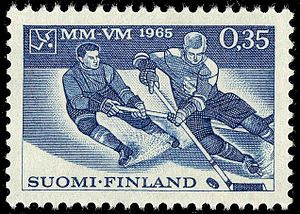 1965 World Ice Hockey Championships - Image: 1965 Icehockey MM VM 1965 in Tampere
