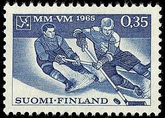 1965 World Ice Hockey Championships - Image: 1965 Icehockey MM VM 1965 in Tampere