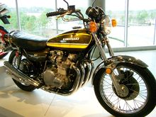 1974 Kawasaki Z1A On Display At The Barber Vintage Motorsports Museum