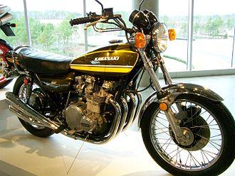 Kawasaki Z1 - 1974 Kawasaki Z1A on display at the Barber Vintage Motorsports Museum