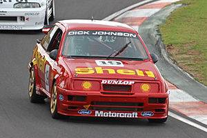DJR Team Penske - A Ford Sierra RS500 Cosworth that was campaigned by DJR throughout 1990, 1991 and 1992, pictured in 2015.