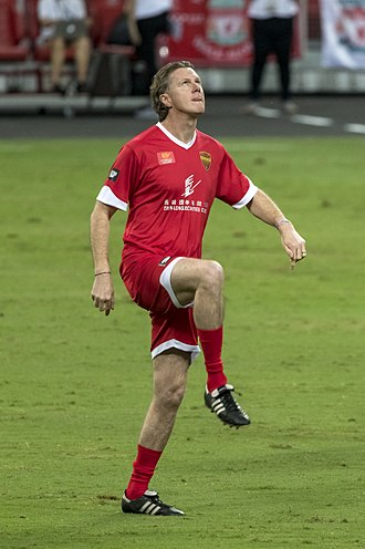 Steve McManaman - McManaman playing in a friendly in 2017