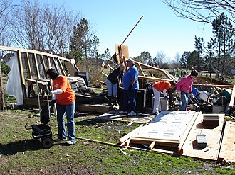 Tornadoes of 2007 - Cleanup after the tornado in Dumas, Arkansas.