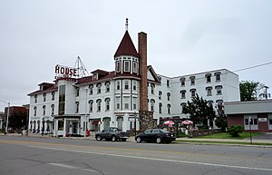 Escanaba, Michigan - The historic House of Ludington, a landmark hotel in downtown Escanaba