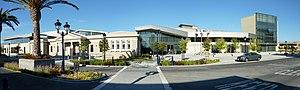 Milpitas, California - The new Milpitas Library (2009) integrates the historic Milpitas Grammar School building (1915).