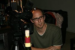 2010 T. Arthur Cottam on set of film Objects.jpg