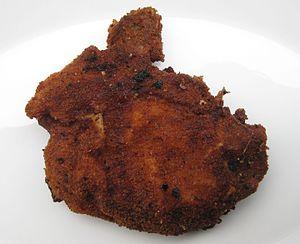 Kotellet - Image: 2011 11 26 Schweinekotelett Knochen paniert gebraten