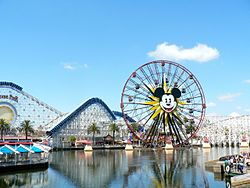 2011 Disney California Adventure- Mickey's Fun Wheel and California Screaming (5809337433).jpg