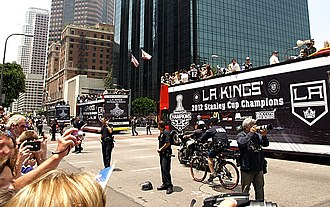 2012 Stanley Cup playoffs - The Kings' 2012 Stanley Cup victory parade in downtown Los Angeles.