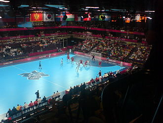 Hungary national handball team - Hungarian national team in 2012 Summer Olympics against Spain
