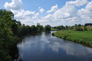River Boyne River in Leinster, Ireland