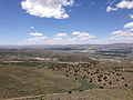 "2014-06-13 12 44 15 View west-northwest from a bluff northwest of the summit of ""E"" Mountain in the Elko Hills of Nevada.JPG"