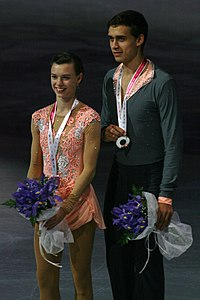 2015 ISU Junior Grand Prix Final Pair skating medal ceremonie IMG 9297.JPG