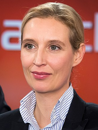 2017 German federal election - Image: 2017 11 29 Alice Weidel Maischberger 5664 (cropped)