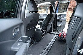 The 60 40 Split Rear Seat In Stow Position Highlights Flat Load Floor That Carries Over From Gen1 Ridgeline 2017 Rtl