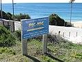 2018-02-02 Sign for the Beach Restaurante-Bar Pic Nic, Praia do Castelo, Albufeira.JPG