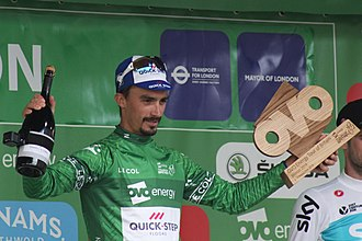 2018 Tour of Britain - Image: 2018 Tour of Britain stage 8 race winner Julian Alaphilippe