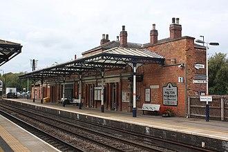 Melton Mowbray railway station - Image: 2018 at Melton Mowbray station platform 1