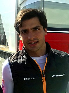 Carlos Sainz Jr. Spanish racing driver