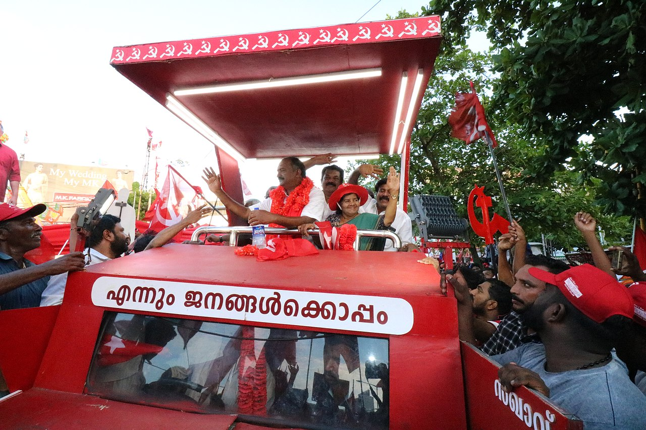 2019 Indian general election campaign climax kollam knbalagopal2.jpg