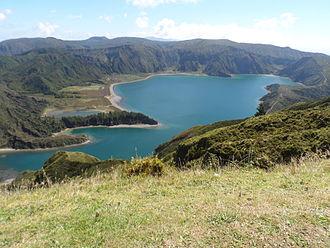 Água de Pau Massif - A view from Pico da Barrosa towards the central caldera of the Superior complex