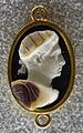 259 arte romana, imperatore con corona radiata, calcedonio, III sec. ca..JPG