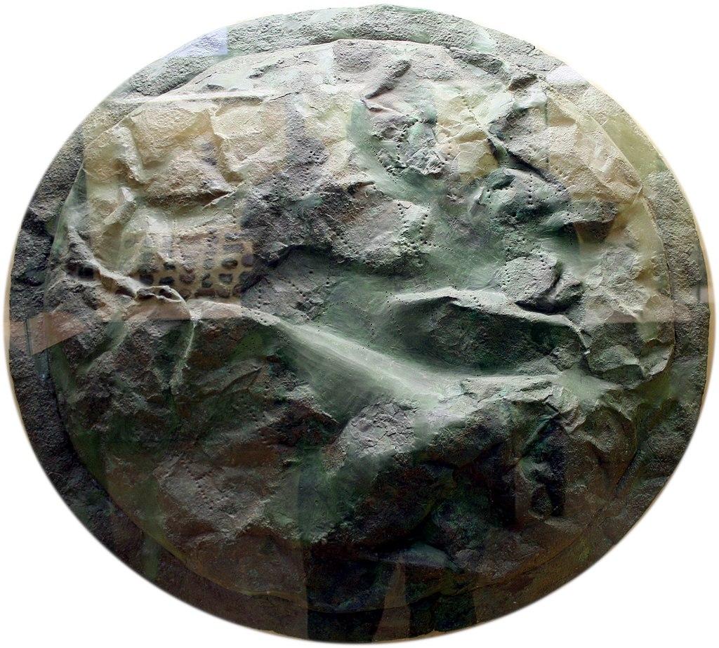 3195 - Athens - Stoà of Attalus Museum - Spartan shield (425 BC) - Photo by Giovanni Dall'Orto, Nov 9 2009.jpg
