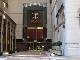 345 California Center - Image: 345California Center With Its Front Entrance