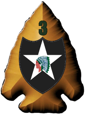3rd Infantry Brigade, 2nd Infantry Division - insignia of the 3rd Brigade 2nd Infantry