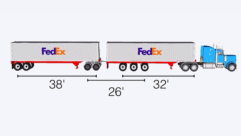 40 foot container turnpike double axel distances