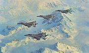 43d Tactical Fighter Squadron - F-15s over Alaska Range